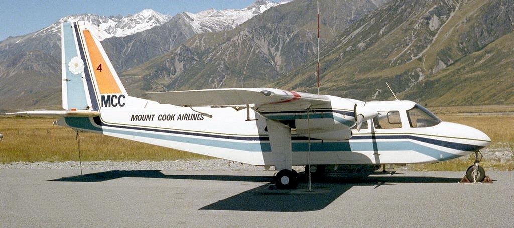 Mount Cook Airline BN-2A ZK-MCC Image Microsoft Flight Simulator